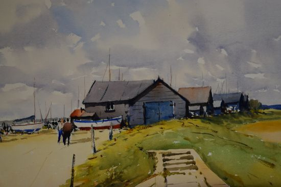 Sheds at the Southwold Harbour