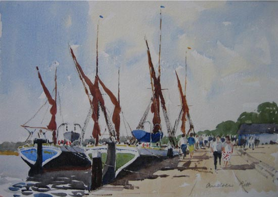 Barges at Hythe Quay