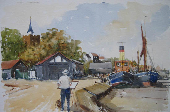 Painting at Maldon