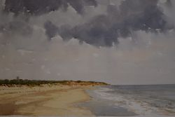 Grey Sky over Covehithe Looking North